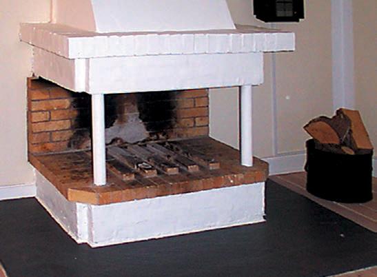 Umbau eines offenen Kamins mit einer Kassette