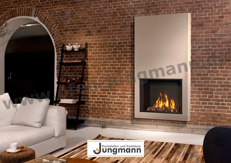 Klassik-Kamin Gas 65/100 flackernde Feuer in Ziegeln
