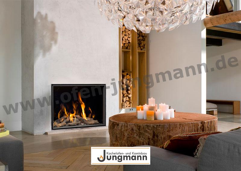 Klassik-Kamin Gas 65/100 Kerzenvielfalt auf Baumstamm